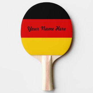 Flagge von Deutschland oder von Deutschland Tischtennis Schläger