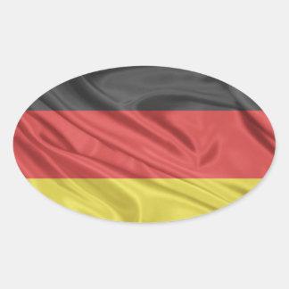 Flagge von Deutschland Ovaler Aufkleber