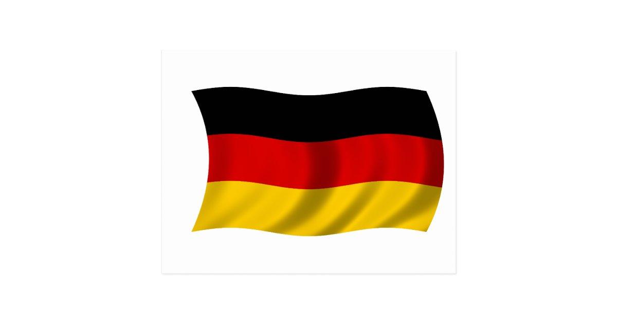 flagge von deutschland postkarte zazzle. Black Bedroom Furniture Sets. Home Design Ideas