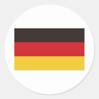 Flagge von Deutschland Runder Aufkleber