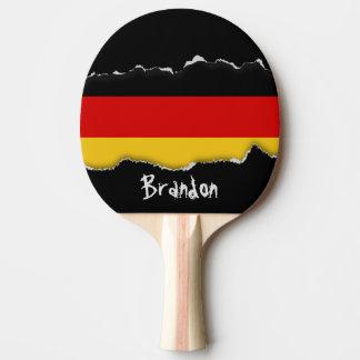 Flagge von Deutschland Tischtennis Schläger