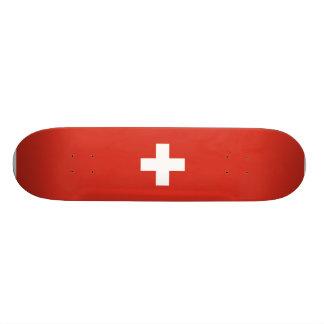 Flagge von die Schweiz-Skateboard Individuelles Deck