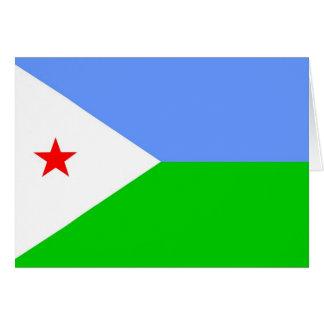Flagge von Dschibuti Karte