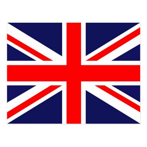 Flagge von England - Gewerkschafts-Jack Postkarte
