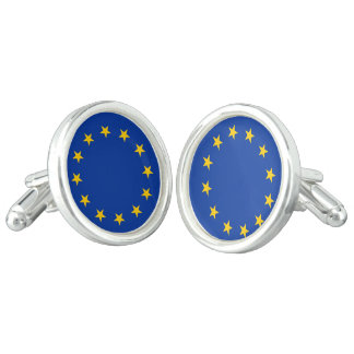 Flagge von Europa, europäische Flagge Manschettenknöpfe