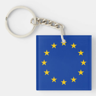 Flagge von Europa, europäische Flagge Schlüsselanhänger