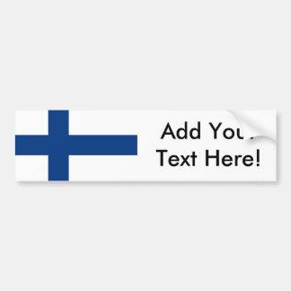 Flagge von Finnland Autoaufkleber