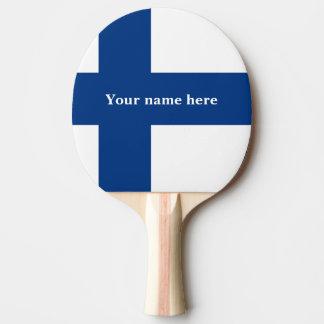 Flagge von Finnland blaues QuerSuomi Tischtennis Schläger