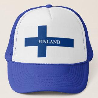 Flagge von Finnland blaues QuerSuomi Truckerkappe
