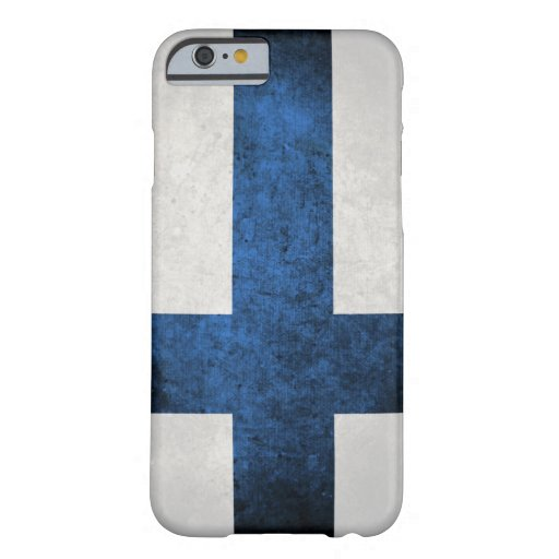 Flagge von Finnland Barely There iPhone 6 Hülle
