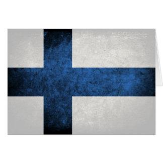 Flagge von Finnland Mitteilungskarte