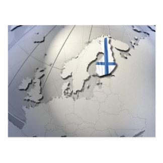 Flagge von Finnland Postkarte