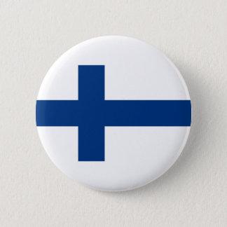 Flagge von Finnland Runder Button 5,7 Cm