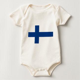 Flagge von Finnland - Suomen lippu - Finlands Baby Strampler