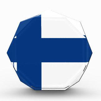 Flagge von Finnland - Suomen lippu - finnische Acryl Auszeichnung