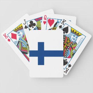 Flagge von Finnland - Suomen lippu - finnische Bicycle Spielkarten