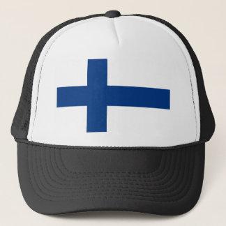 Flagge von Finnland - Suomen lippu - finnische Truckerkappe