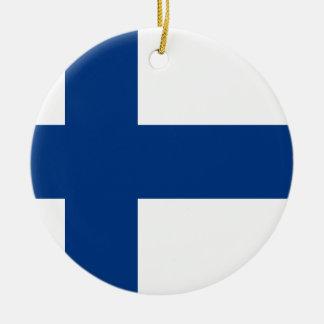 Flagge von Finnland - Suomen Lippu - Keramik Ornament