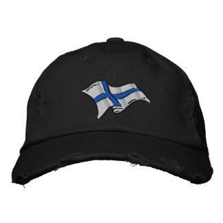 Flagge von Flagge Finnlands Suomi für Finns Bestickte Kappe