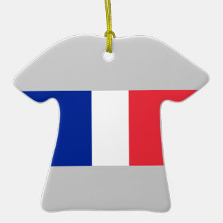 Flagge von Frankreich auf Keramik-T-Shirt Weihnachtsbaum Ornamente