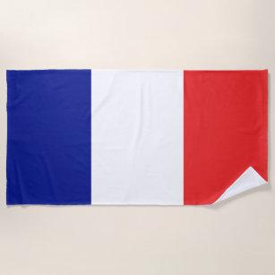 Flagge von Frankreich-Franzosen Tricolore Strandtuch