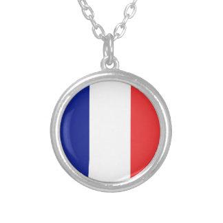 Flagge von Frankreich-Franzosen Tricolore Versilberte Kette