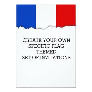 Flagge von Frankreich Karte