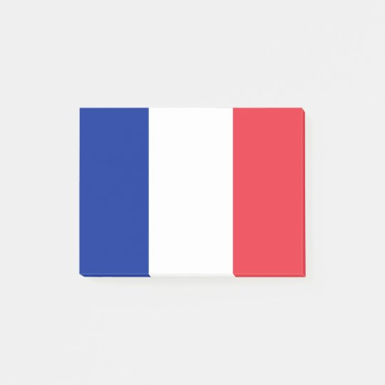 Flagge von Frankreich Posten-it® Anmerkungen Post-it Klebezettel