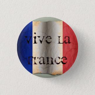 Flagge von Frankreich Runder Button 3,2 Cm