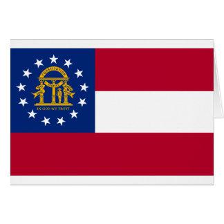 Flagge von Georgia Karte