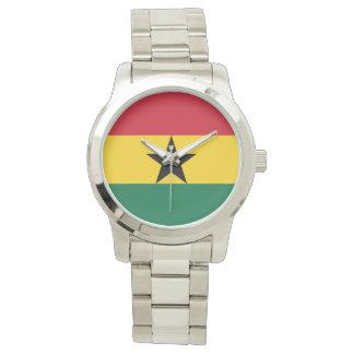 Flagge von Ghana - ghanaische Flagge Armbanduhr