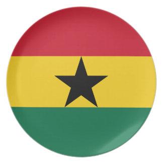 Flagge von Ghana - ghanaische Flagge - Melaminteller