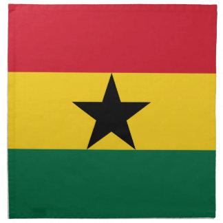 Flagge von Ghana - ghanaische Flagge - Serviette
