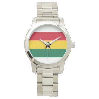 Flagge von Ghana - ghanaische Flagge Uhr