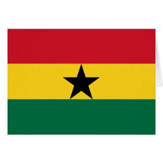 Flagge von Ghana Karte