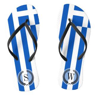 Flagge von Griechenland Flip Flops