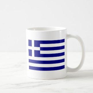 Flagge von Griechenland Kaffeetasse