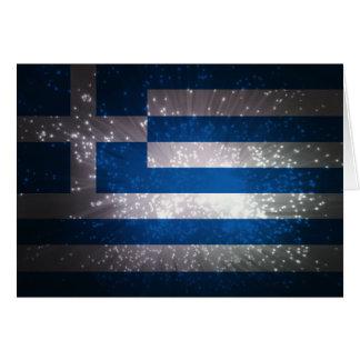 Flagge von Griechenland Grußkarte