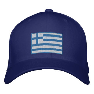 Flagge von Griechenland kundengerecht Bestickte Baseballkappe