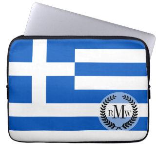 Flagge von Griechenland Laptop Sleeve