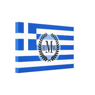 Flagge von Griechenland Leinwanddruck