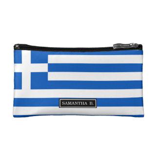 Flagge von Griechenland Makeup-Tasche