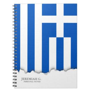 Flagge von Griechenland Notizblock