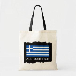 Flagge von Griechenland Tragetasche