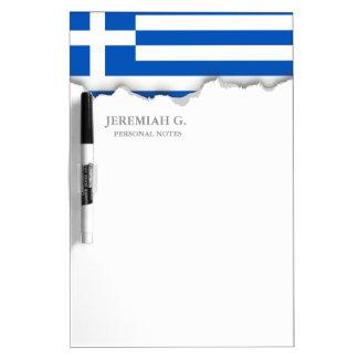 Flagge von Griechenland Trockenlöschtafel