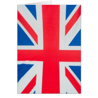Flagge von Großbritannien Karte