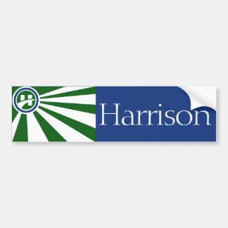 Flagge von Harrison, Ohio-Autoaufkleber Autoaufkleber