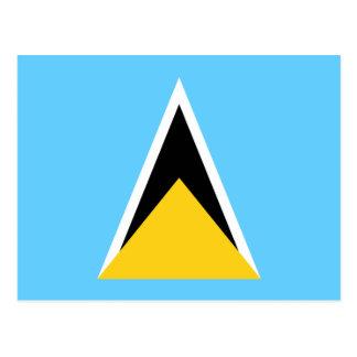 Flagge von Heilige Lucia-Postkarte Postkarte