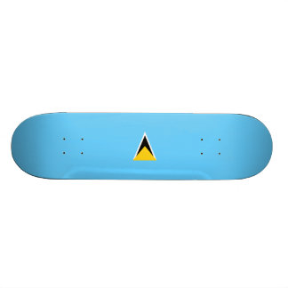 Flagge von Heilige Lucia-Skateboard Skateboard Bretter