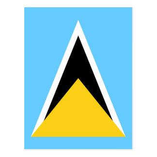 Flagge von Heiliger Lucia Postkarte